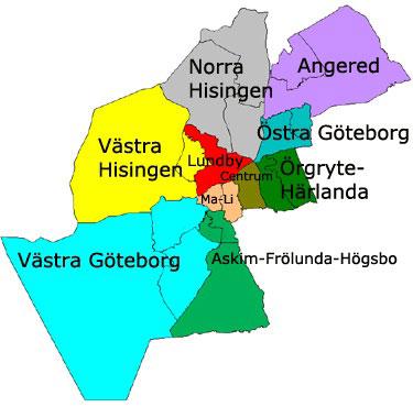 göteborg stadsdelar karta Kick off i orter utanför Göteb  Kick off = Konferens +  göteborg stadsdelar karta
